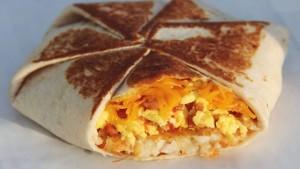 Taco Bell 1 Dollar Morning Menu - Taco Bell AM Crunch Wrap