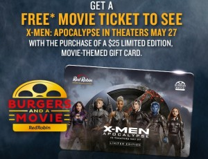 Red Robin Coupon for Free Movie with Gift Card